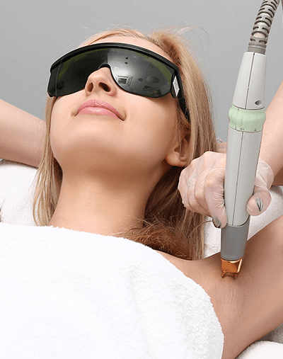 Laser hair removal in Allure Cosmetic Clinic & Medispa.